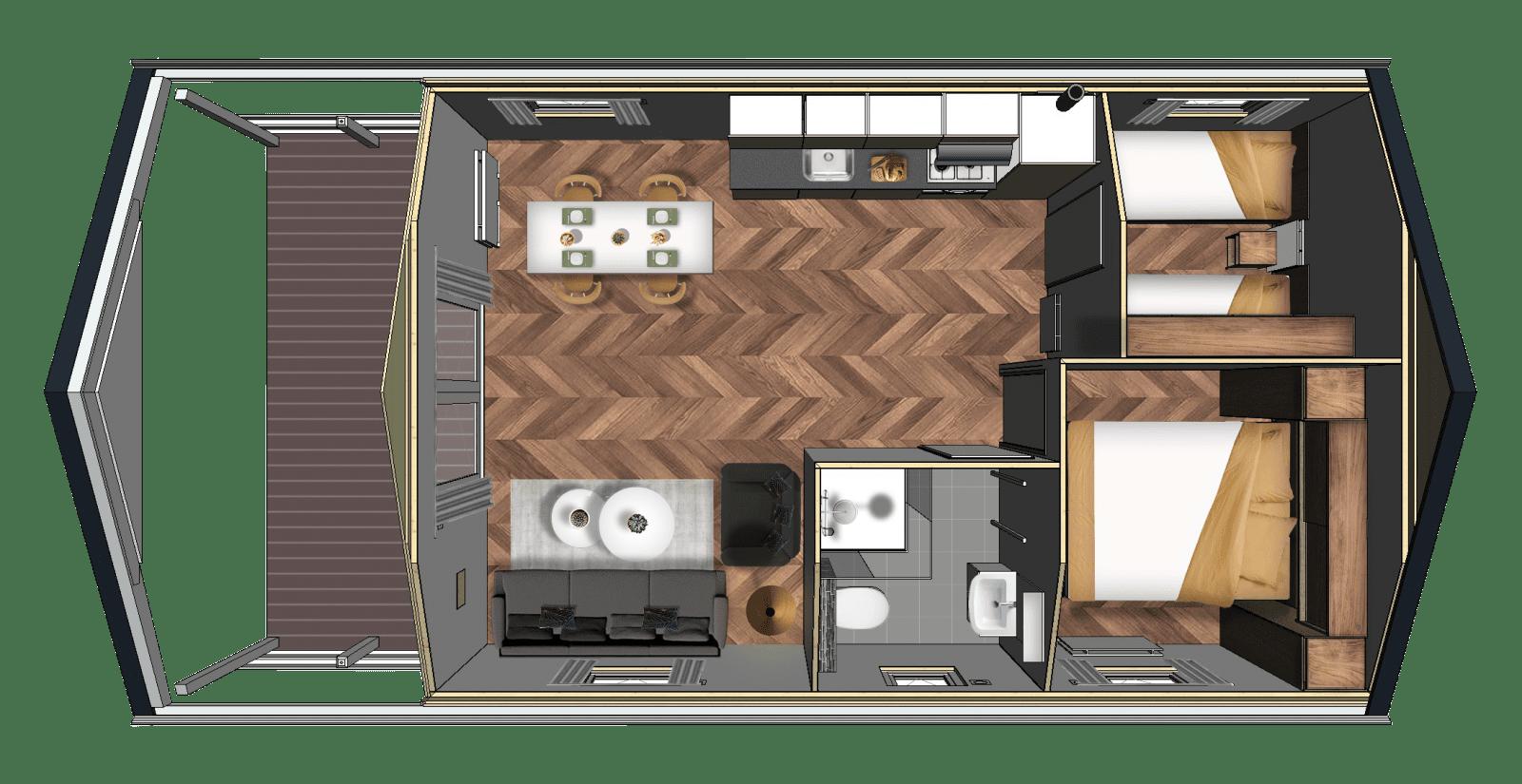 Grundriss-Lodge